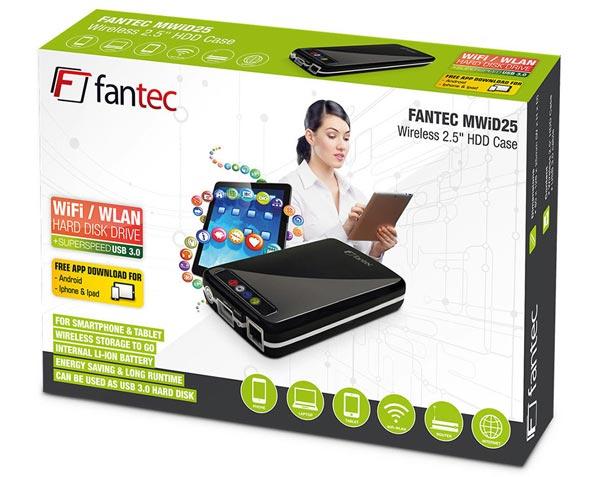 Fantec MWiD25 — корпус для внешнего накопителя с беспроводным подключением к сети