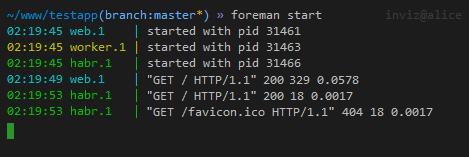 Foreman — менеджер процессов для ваших веб приложений