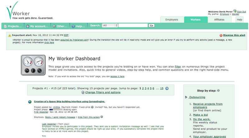 Freelance.com приобрел vWorker