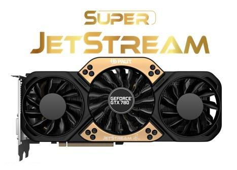 Компоненты 3D-карты Palit GeForce GTX 780 Super JetStream работают на еще более высоких частотах, чем компоненты 3D-карты Palit GeForce GTX 780 JetStream
