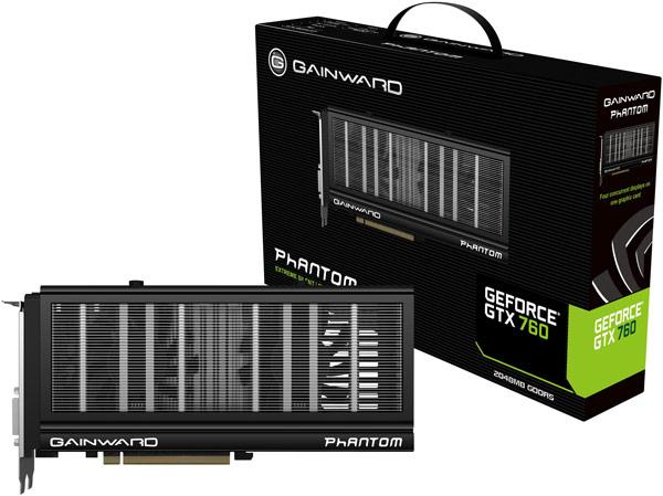 Графический процессор 3D-карты Gainward GTX 760 Phantom работает на частоте 1072 МГц