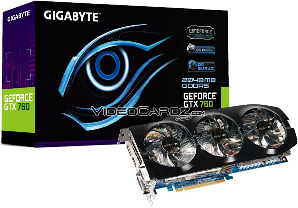Gigabyte GeForce GTX 760 OC WindForce 3X