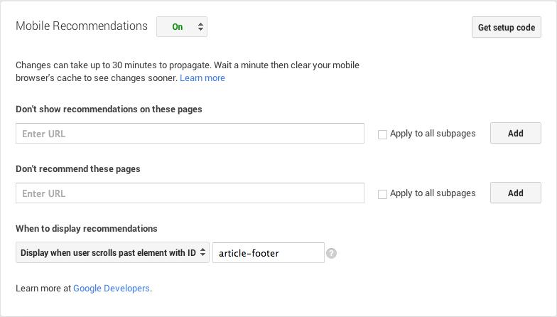 Как включить и настроить инструмент для рекомендации контента