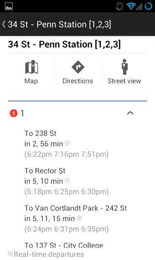 Google Maps покажет график движения общественного транспорта в режиме реального времени для некоторых городов