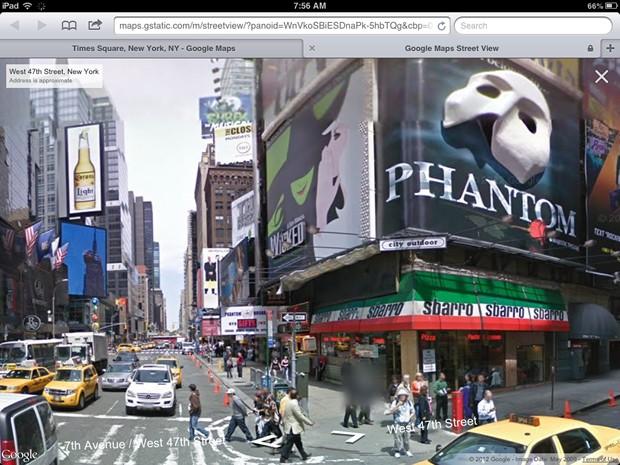 Google Street View работает теперь и с мобильными браузерами