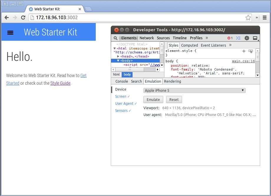 Google Web Starter Kit: конструктор мобильных сайтов