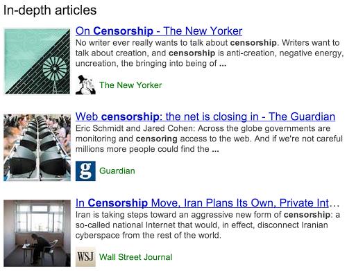 """Google добавит в выдачу """"статьи по теме"""""""