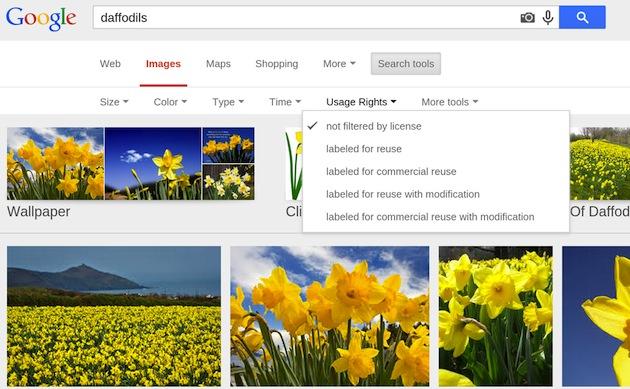 Google упростил поиск картинок по типу лицензии