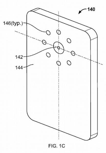 Google запатентовала смартфон с 8 ю вспышками