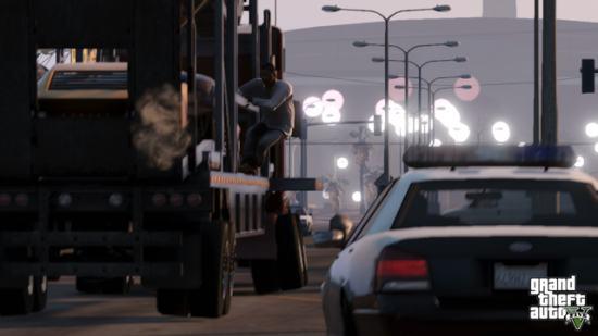 Grand Theft Auto V — демонстрация мультиплеера