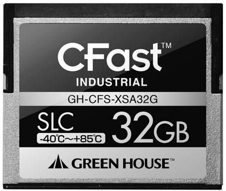 Green House использует в картах памяти формата CFast флэш-память типа SLC