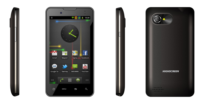 Highscreen Yummy Duo – новый Android смартфон с поддержкой двух SIM карт