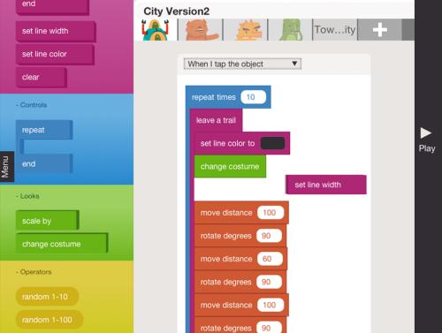 Hopscotch: азы программирования для детей на iPad
