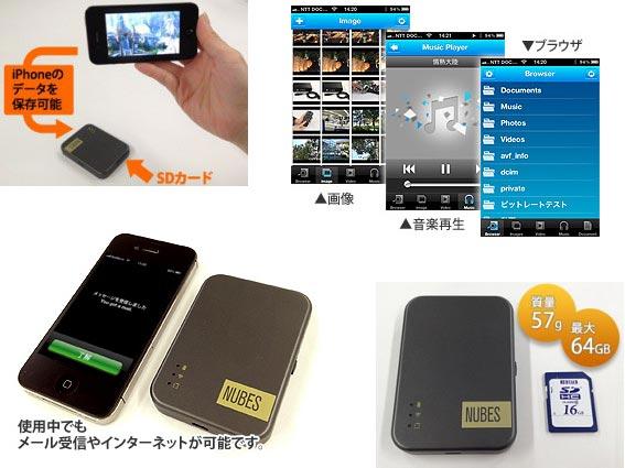 I-O Data NUBES, устройство для работы с картами памяти SD, подключается к смартфонам и планшетам Apple по Wi-Fi