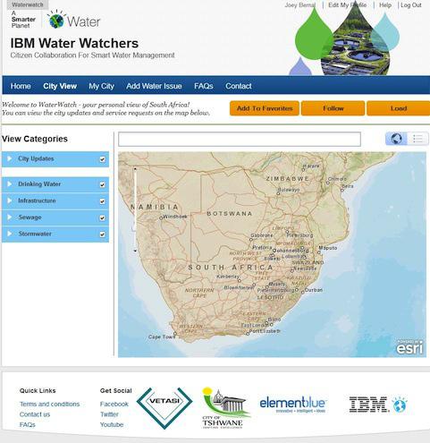 IBM выпустила социальное приложение для общественного контроля/мониторинга водоснабжения (пока только в ЮАР)