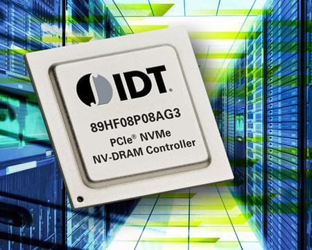 Контроллер 89HF08P08AG3 NV-DRAM работает с памятью DDR3 DRAM на скоростях до 3 Гбит/с