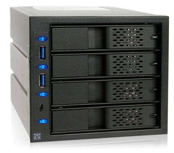 Icy Dock выпускает корзину для четырех накопителей FlexCage MB974SP-2B