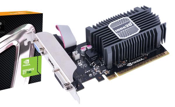 Две из семи 3D-карт Inno3D GeForce GT 730 имеют пассивное охлаждение