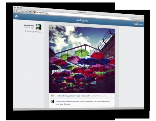 Instagram запустил веб версию ленты пользователя