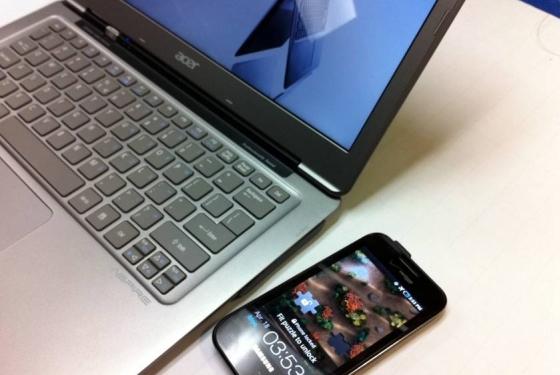 Intel работает над беспроводной зарядкой типа «ноутбук смартфон»