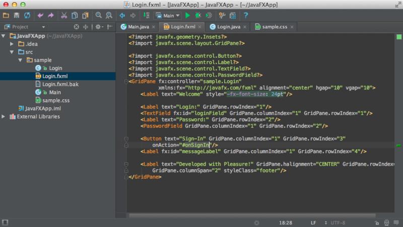 Intellij IDEA 12.1 c поддержкой JavaFX 2