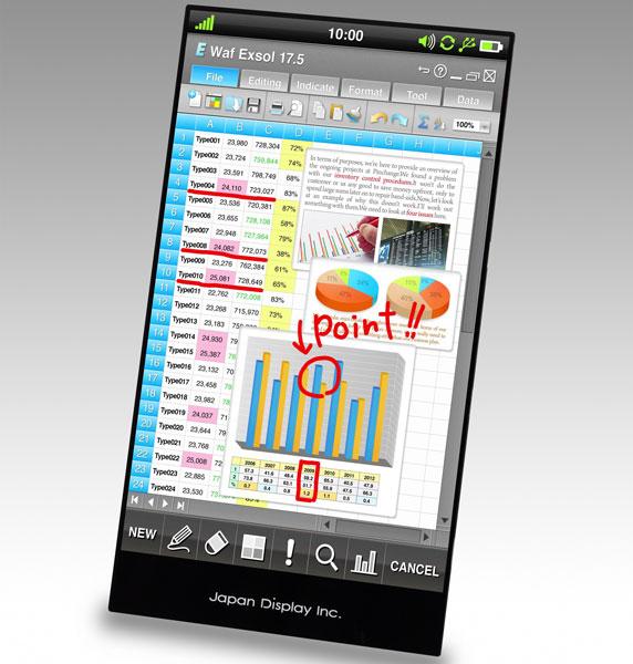Технология Pixel Eyes позволяет наделить элементы жидкокристаллической панели функциями сенсорного ввода