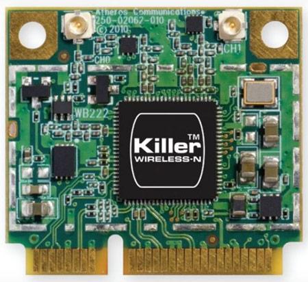 Killer Technology объединяет в миниатюрной сетевой плате Killer Wireless-N 1202 поддержку Wi-Fi и Bluetooth 4.0