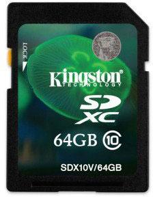 Одновременно выпущена карта памяти Kingston SDXC Class 10 объемом 64 ГБ