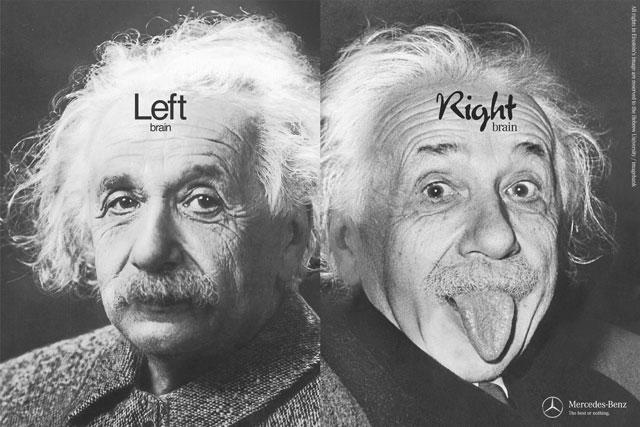 Left brain needed