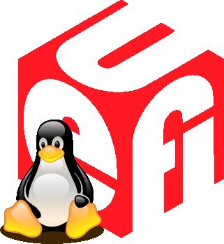Tux em frente ao logotipo UEFI.