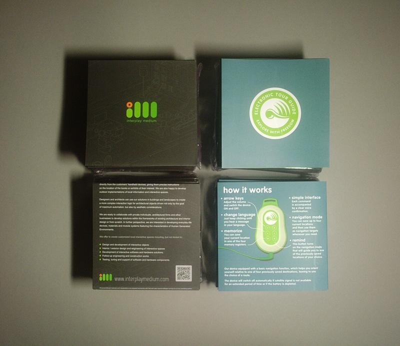 Буклеты: пражский пражский GPS аудиогид и Interplay Medium