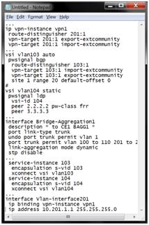 MPLS VPN с TE в корпоративных сетях