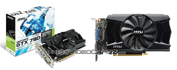 Модель MSI GeForce GTX 750 получит систему охлаждения с одним вентилятором