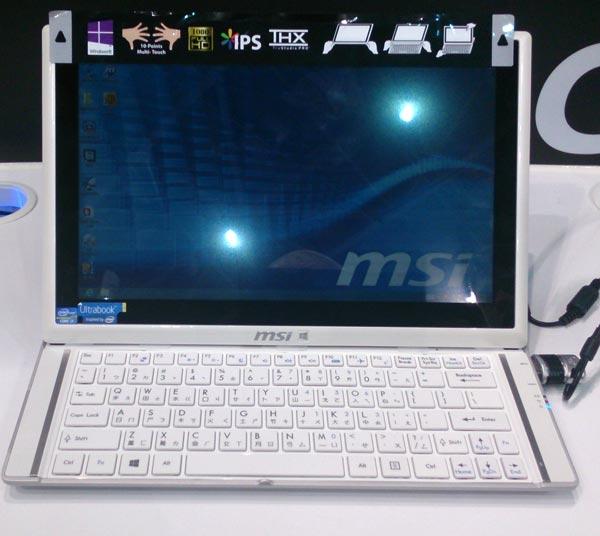 Трансформер MSI Slider S20 оснащен сенсорным экраном размером 11,6 дюйма
