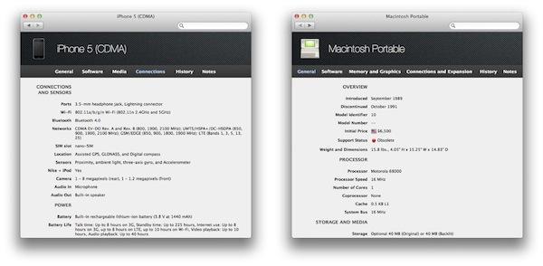 Mactracker — энциклопедия устройств Apple