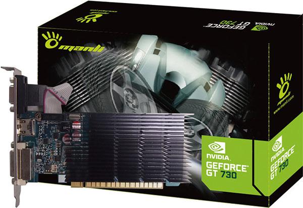 В конфигурацию 3D-карт Manli GeForce GT 730 входит 384 ядра CUDA