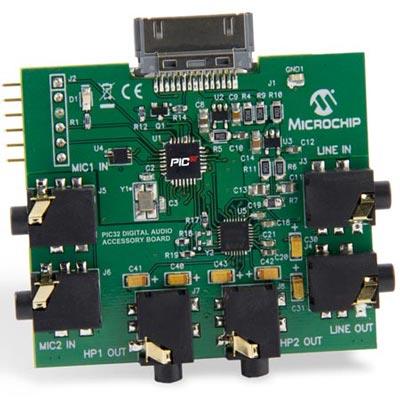 Microchip DM320014 и DM320413: платы для разработки электронных звуковых устройств