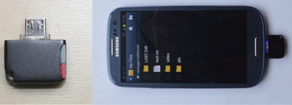 Mini MicroSD Reader: миникартридер для Android устройств