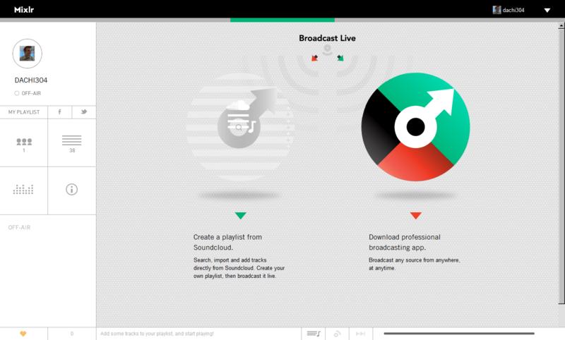 Mixlr — сервис для музыкальных трансляций
