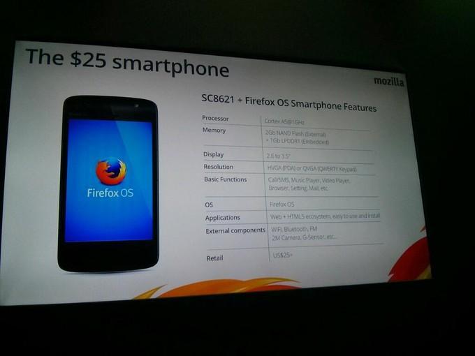 Mozilla анонсировала «25 долларовый смартфон»