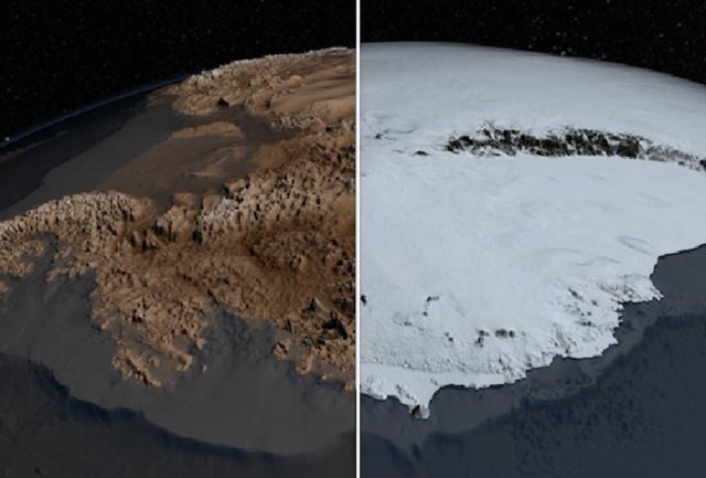 NASA представило наиболее детальную топографическую карту Антарктики за последние 10 лет