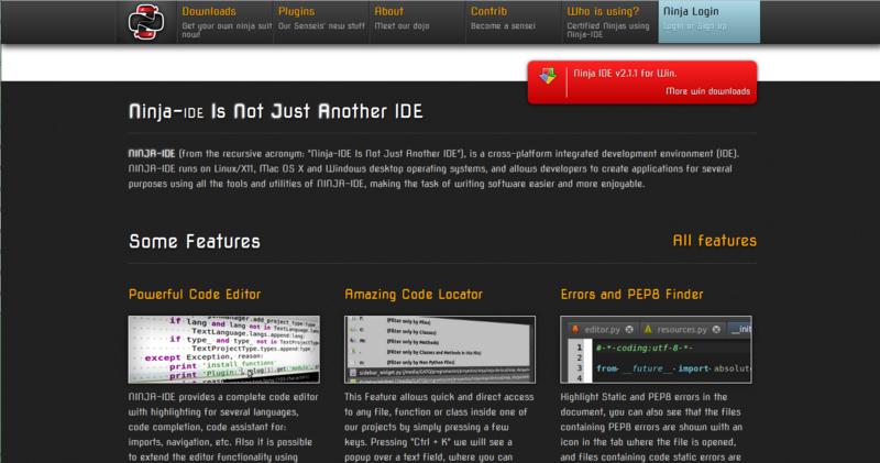 Ninja IDE – открытая среда разработки для Python