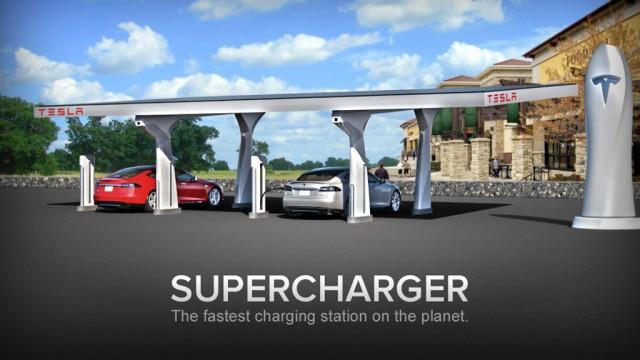 Nissan и BMW присоединятся к планам Tesla по развитию электрозаправок