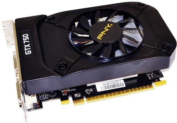 Самой производительной из трех является модель PNY GeForce GTX 750 Ti 2GB OC