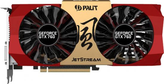 Palit выпускает 3D-карту GeForce GTX 760 JetStream