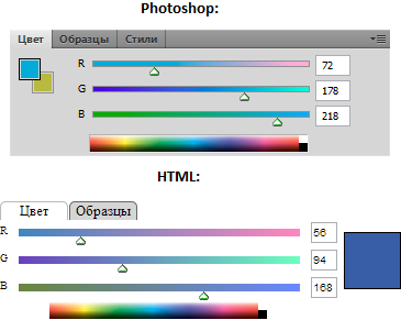 Photoshop color picker на jQuery