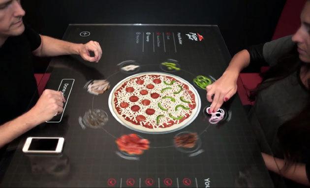 Pizza Hut представила концепт сенсорного стола для заказа пиццы (видео)