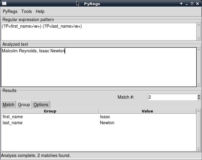 PyRegs: анализатор регулярных выражений Python 3