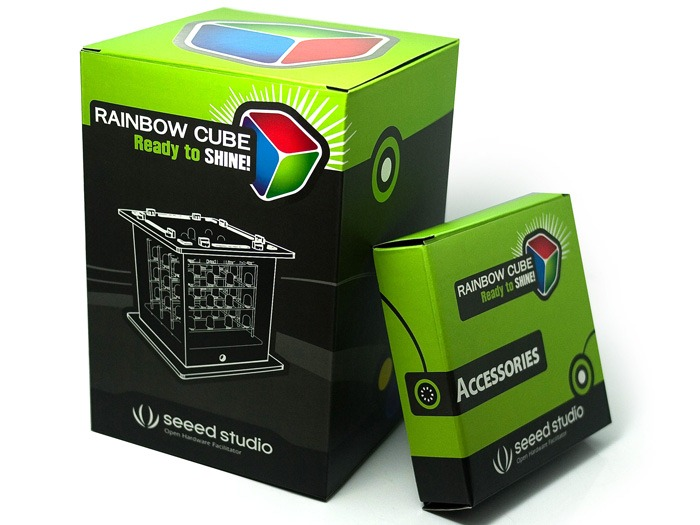 Rainbow Cube — куб с RGB диодами