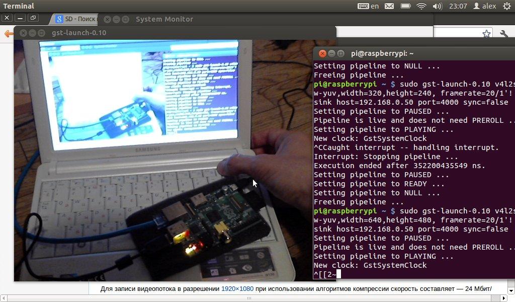 Raspberry Pi. Передача видео для дистанционного управления